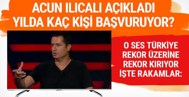 Acun Ilıcalı açıkladı; O Ses Türkiye'ye kaç kişi başvurdu?