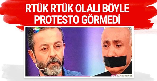 Canlı yayında RTÜK'ü böyle protesto etti
