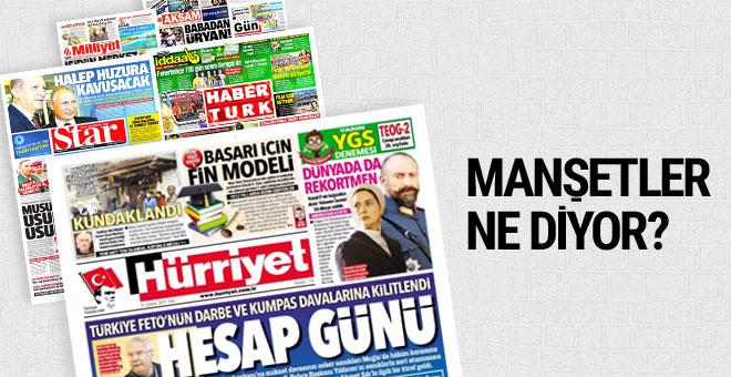 21 Şubat 2017 Salı gazete manşetleri