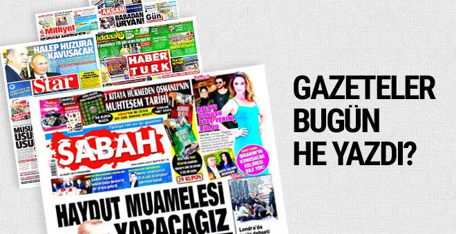 23 Mart 2017 Perşembe gününün gazete manşetleri...