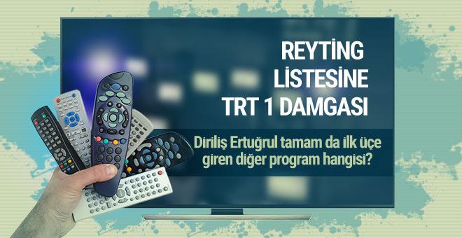 22 Mart 2017 günün reyting listesine TRT 1 damga vurdu