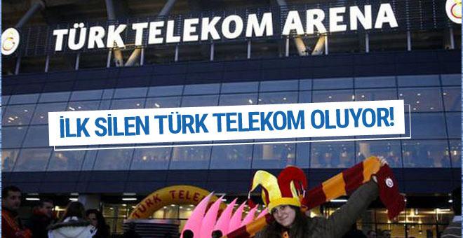 İlk silme işlemi Türk Telekom Arena'da yaşanacak