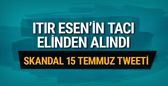 Türkiye güzeli seçilen Itır Esen'in tacı geri alındı