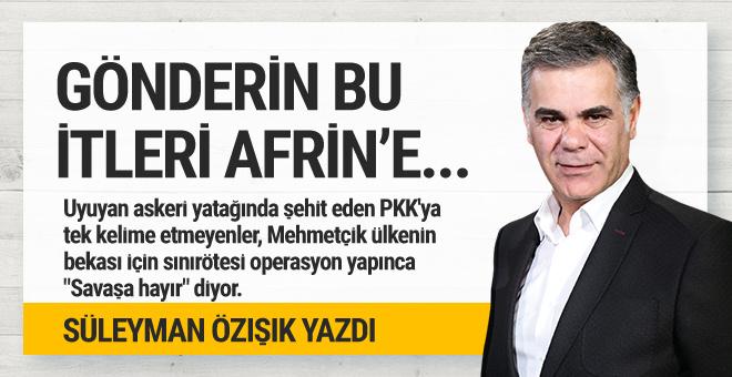 Süleyman Özışık yazdı:  Gönderin bu itleri Afrin'e...