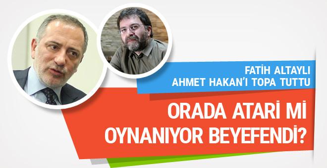 Fatih Altaylı Ahmet Hakan'ı yerden yere vurdu