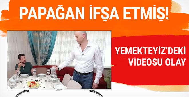 Papağan ifşa etmiş Murat Özdemir'in Yemekteyiz'deki olay videosu