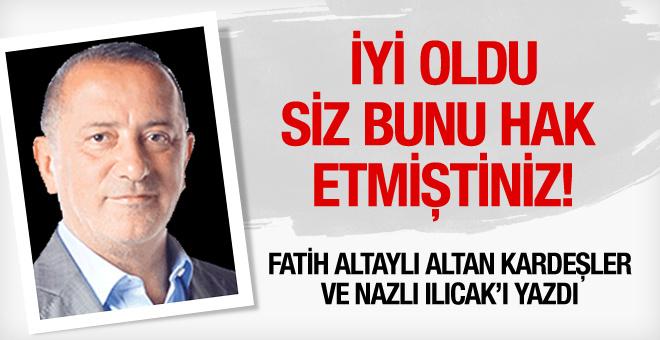 Fatih Altaylı'dan Nazlı Ilıcak ve Altan kardeşler için olay yorum! Hak etmiştiniz!