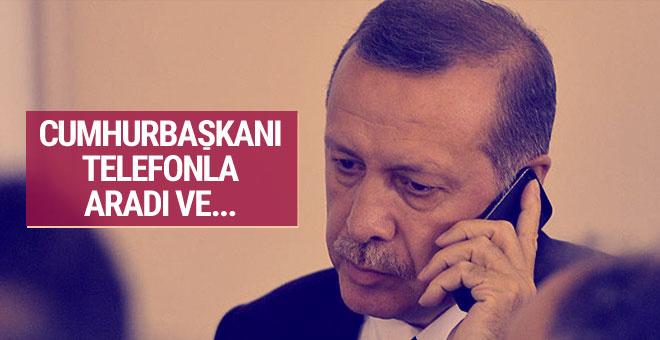Cumhurbaşkanı telefonla aradı ve...