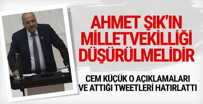 Cem Küçük yazdı: Ahmet Şık'ın milletvekilliği düşürülmelidir