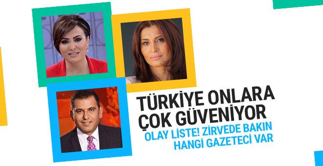 Türkiye'nin en güvenilir isimleri belli oldu!
