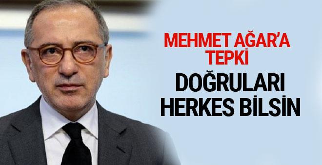 Fatih Altaylı'dan Mehmet Ağar'a tepki! Doğruları herkes bilsin