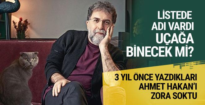 Ahmet Hakan açıkladı: Erdoğan'ın uçağına binecek mi?