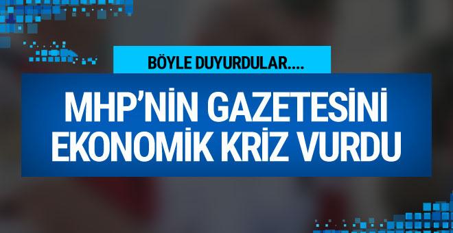 MHP'nin gazetesi Ortadoğu'yu ekonomik kriz vurdu!