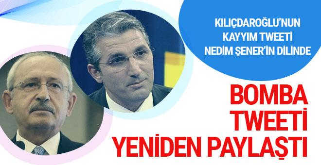 Kemal Kılıçdaroğlu'nun olay kayyım twiti Nedim Şener'in dilinde