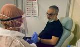 Hadi Özışık aşı için gönüllü oldu