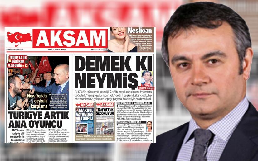 Fikri takibi bırakmayan Akşam gazetesi ve Mustafa Kartoğlu İmamoğlu'na itiraf ettirdi