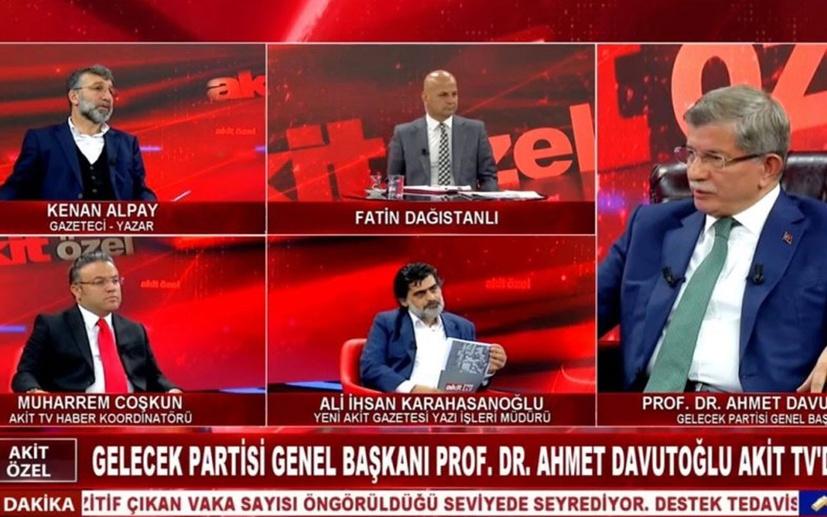 AKİT TV'de Ahmet Davutoğlu ile kavga çıktı!