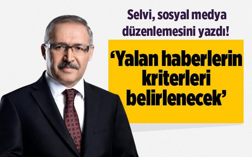 Abdülkadir Selvi, sosyal medya düzenlemesini yazdı! 'Yalan haberlerin kriterleri belirlenecek'