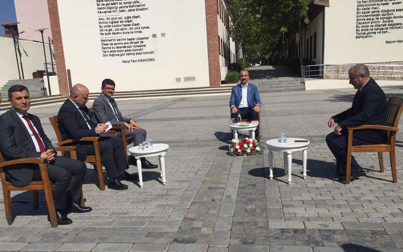 Adalet Bakanı Gül Anadolu Gazetecilerinin sorularını yanıtladı