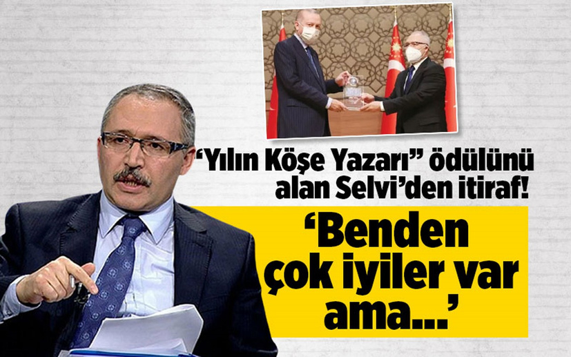 """""""Yılın Köşe Yazarı"""" ödülünü alan Abdülkadir Selvi'den itiraf! 'Benden çok iyiler var ama...'"""
