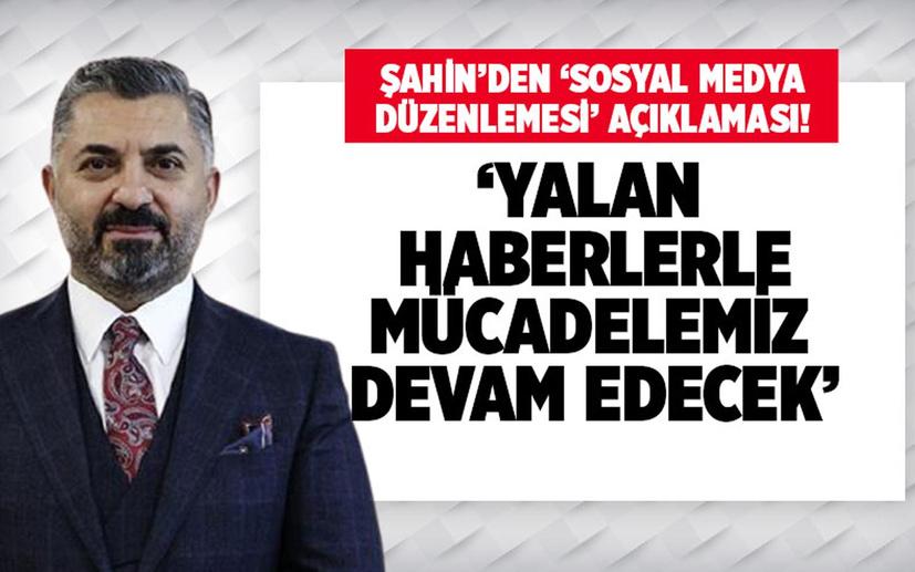 RTÜK Başkanı Ebubekir Şahin: Yalan haberlerle mücadelemiz devam edecek!