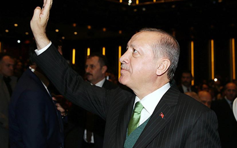Alkışlar Cumhurbaşkanı Recep Tayyip Erdoğan için