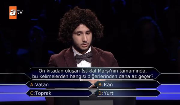 İstiklal Marşı sorusu ile milyoner oldu, ilk paylaşımı olay yarattı! - Sayfa 1