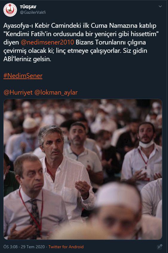 Sosyal medyada Nedim Şener'e büyük destek - Sayfa 1
