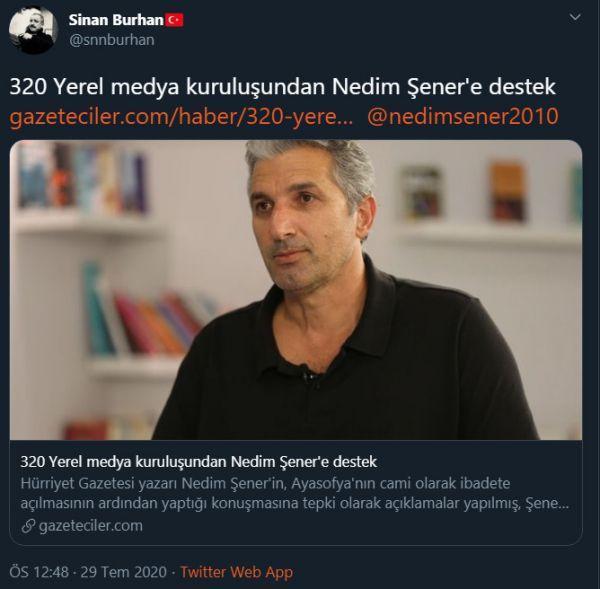 Sosyal medyada Nedim Şener'e büyük destek - Sayfa 3