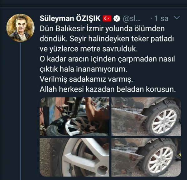Süleyman Özışık, trafik kazası geçirdi - Sayfa 1