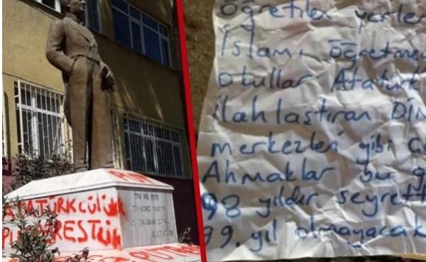 Tekirdağ'da Atatürk heykeline saldırı! İçişleri Bakanı Süleyman Soylu duyurdu provokatör yakalandı - Sayfa 2