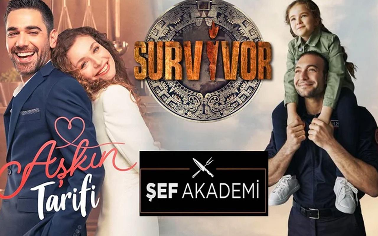 Aşkın Tarifi Kahraman Babam Survivor ve Şef Akademi'ye reyting şoku! Zirve bakın kimin - Gazeteciler